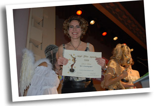 Alexia Roider from Cyprus receiving AFA Award for 'STYX'