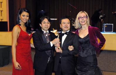 Dame De Honour Rachel Ritfeld, Exec. Producer Kazuhiko Tanaka, Film Dir. Hideki Wada winner of Best Picture 'Cinderella Formula' winning 3 additional AngelFA for Best Actress, Best Actor and Best Screenplay