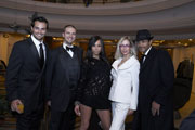 US actor Scott Elrod, Dir. Nathan Atkinson, Niki London, Rosana Golden, Michael Collins CEO HotSpot Records, Las Vegas