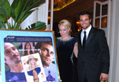 Gala Opening Night VIP Film Party Hermitage Hotel Miss Great Britain Gemma Garrett & US Actor Scott Elrod